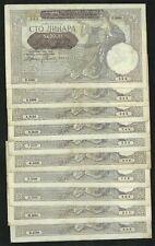Serbia/yugoslavia: 10 x 100 dinara 1941