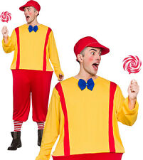 Adult Funny Twin Tweedle Dum Dee Storybook Outift Mens Fancy Dress Costume One Size - See Below