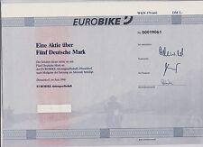 BRD Historisches Wertpapier Aktie Eurobike AG, 5 DM