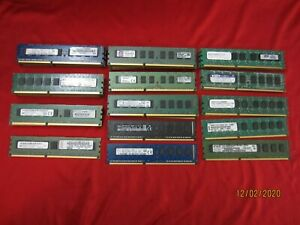 Lot of 36pcs 4GB Samsung,Hynix,Kingston PC3-10600E/12800E DDR3 ECC Server Memory