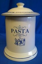 1869 VICTORIAN KITCHEN POTTERY COMPANY PASTA STORAGE JAR BLUE