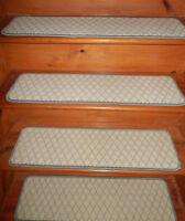 13  Step 9'' x 32'' +  Landing 28'' x 32''  Tufted carpet Wool  Stair Treads .