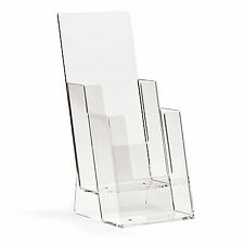 1/3rd A4 DL (100mm W x 210mm H) 2 Tier Leaflet Holder Display Stand BPS2C110 x 2