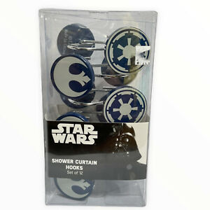 Star Wars Shower Curtain Hook Set New Old Stock Galactic Empire Rebel Alliance