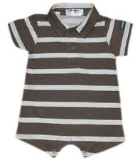 Oshkosh B'gosh Stripes Romper w/ Collar (RWC-11) Infant/Baby Boy Clothes, 9 mos