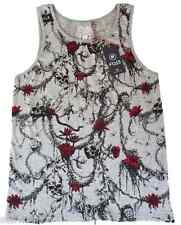MEN'S FLY53 ISHMAEL GRAPHIC VEST TOP - GREY - SIZE MEDIUM ***NEW***