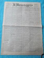 IL MESSAGGERO - QUOTIDIANO - ROMA 16 giugno 1898 - ORIGINALE DI EPOCA