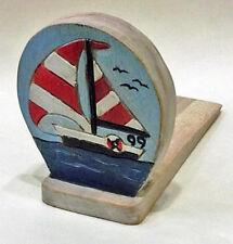 Door Stopper - Wooden Sailboat Door Stop - Sailboat Doorstop