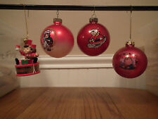 Lot of 4 - Campbell's Soup Christmas Tree Ornaments - Drummer Boy, Balls, & kids