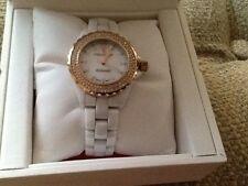Ladies Peugot White Ceramic Watch Retail $395