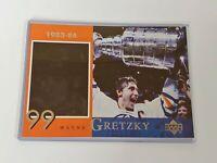 1998-99 Upper Deck McDonald's Wayne Gretzky 5x7 card in plastic protector