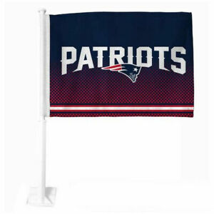 NFL New England Patriots Car Flag, Double Sided, UV Fade Resistant