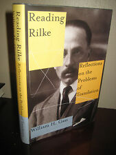 1st Edition READING RILKE William H. Gass DUINO ELEGIES 4th Printing CRITICISM