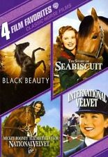 4 Film Favorites Classic Horse Films Black Beauty International Velvet R1 DVD
