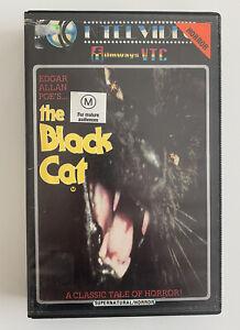 The Black Cat [VHS] K-Tel Filmways Video Ex-Rental Tape 1981 Horror Lucio Fulci