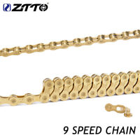 ZTTO K7 Bicycle 9 Speed Gold Chain 116 link MTB Mountain Road Bike Bicycle Parts