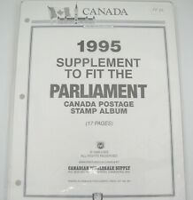 Canadian Wholesale Supply Supplement Parliament Canada Stamp Album 1995