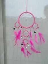 GRANDE 36cm Longue Attrapeur De Rêve Attrape Rêves Dreamcatcher Rose pétant