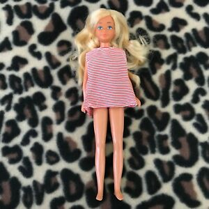 Vintage 1967 Mattel Barbie Doll 9 Inches Red White Striped Dress 60's