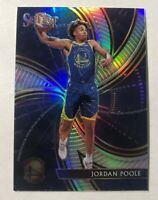 2019-20 Panini Select Jordan Poole Phenomenon Silver Prizm Rookie Card #25