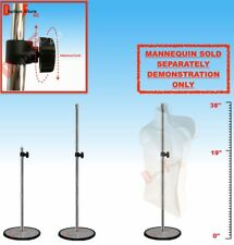 1 Metal Table Top Display Stand For Manikin Mannequin Half Form Adjustable