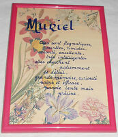 Muriel French Personalized Personality Traits Framed Wall Hanging Desktop France