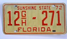 1972 Florida Tag Commercial 12GH-271