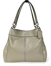 Coach F27593 Pebble Leather Lexy Shoulder bag Silver/Fog NWT $395