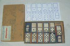 Lot de 12 tampons Scolaires anciens PIERRON + boite, les dominos  SCRAPBOOKING