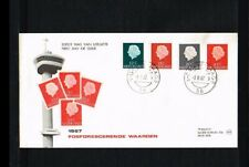 [HQ009] 1967 - Netherlands FDC W9 (1A) - Juliana 4 values - Issued Philato - can