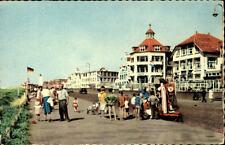 Noordwijk aan Zee alte Ansichtskarte ~1950/60 Boulevard Strandpromenade Personen