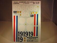 DECALS 1/18 FERRARI 250 GTO #19 LM 62 + #86 TARGA FLORIO 1962 - COLORADO  1805