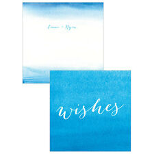 Aqueous Personalized Memory Note Box Well Wishing Cards Wedding Stationery 30pk