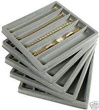 5 Gray Tray and Case Display Organizer Inserts 5 Slot Jewelry Watch Bracelet