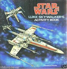 STAR WARS ACTIVITY BOOKS* 2 BOOKS* LUKE SKY WALKERS* DARTH VADER* 1979* EXCELLEN