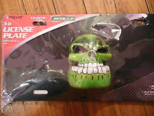 NEW 3D SKULLY LICENSE PLATE ABS PLASTIC TAG FRAME