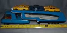 1960s Vintage Marx Pressed Steel Friction Auto Carrier with 7 Cars