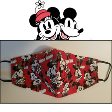 Mickey Mouse Minnie Mouse face mask - 100% cotton, washable and reusable - USA