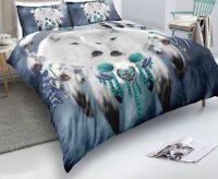 Bedding set Digital Printing Boho Bohemia Dream Catcher White Wolf Starry Sky