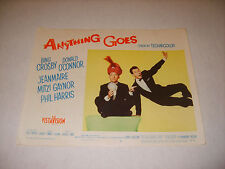 ANYTHING GOES 1956 BING CROSBY AUTHENTIC ORIGINAL 11x14 LOBBY CARD POSTER (486)