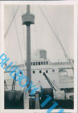 Ocean Liner S.S Atlantis The Bridge  1937 3.25 x 2,5 inches