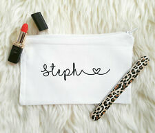Personalised Make Up Bag, Bridesmaid Gift,Wedding Favours Hen Party Cosmetic Bag