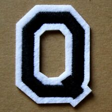 Letter Q Patch Alphabet  Iron Sew On Applique Badge Motif