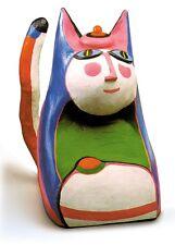 "Corneille, ""le Chat: luna"" Gato Luna, 1994 escultura, pintado, autografiado, autografiada"