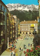 Austria Postcard Innsbruck Herzog Friedrich Strasse & the Golden Roof 1970s