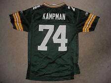 Green Bay Packers Football Jersey Aaron Kampman #74 DE/LB Rare Reebok Youth  Med