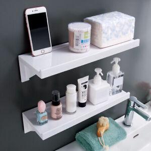 Self Adhesive Bathroom Shelf Waterproof Shower Wall Racks Caddy Holder -Stick On