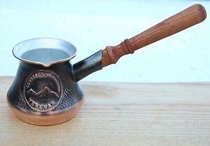 2-3 Cup Copper ARMENIAN TURKISH COFFEE POT MAKER CEZVE IBRIK ARMENIA Jezve GIFT