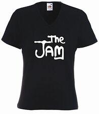 Mod Ladies Fit V-Neck Tee,  Jam, Paul Weller, Mods,retro, punk, new wave