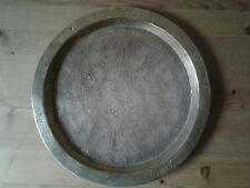 Antique Middle Eastern Islamic scripture decorated brass tray